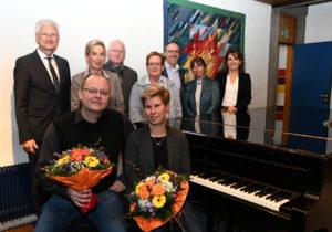 Personen vorne, von links nach rechts: Thomas Löffler, Anne Giepner Personen hinten, von links nach rechts: Wolfgang Spreen, Zandra Boxnick, Willibrord Haas, Petra Terstegen, Rainer Niersmann, Judith Loock-Ulrich, Margit Kosel
